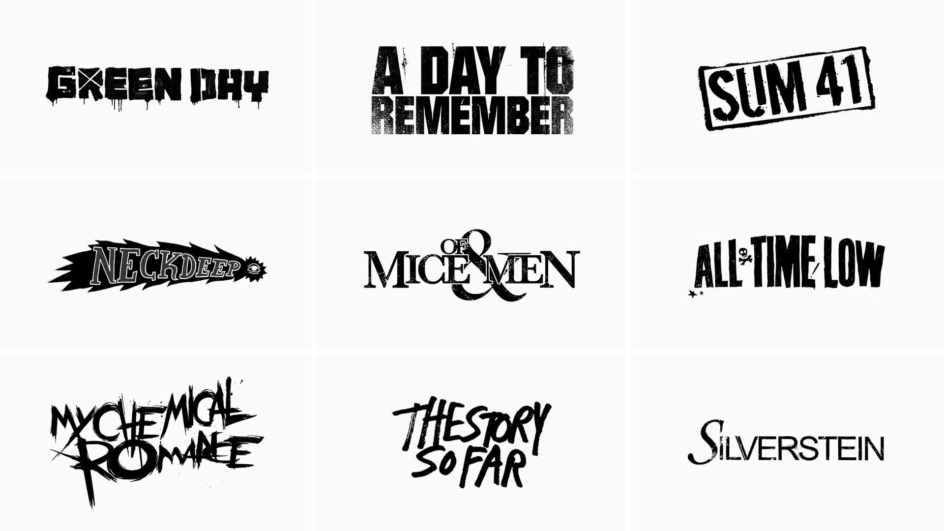 Pop Punk Competitor Logos