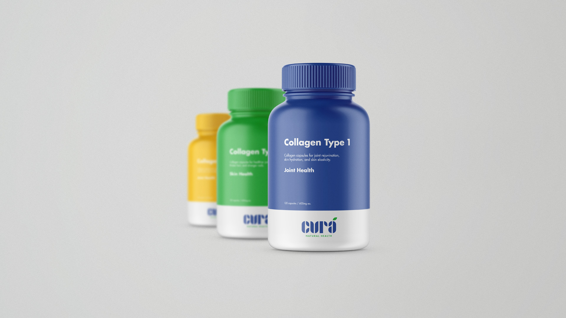 Cura - Adobe Hidden Treasures Logo Design Contest Winner - Packaging Design - Supplement Bottle 2