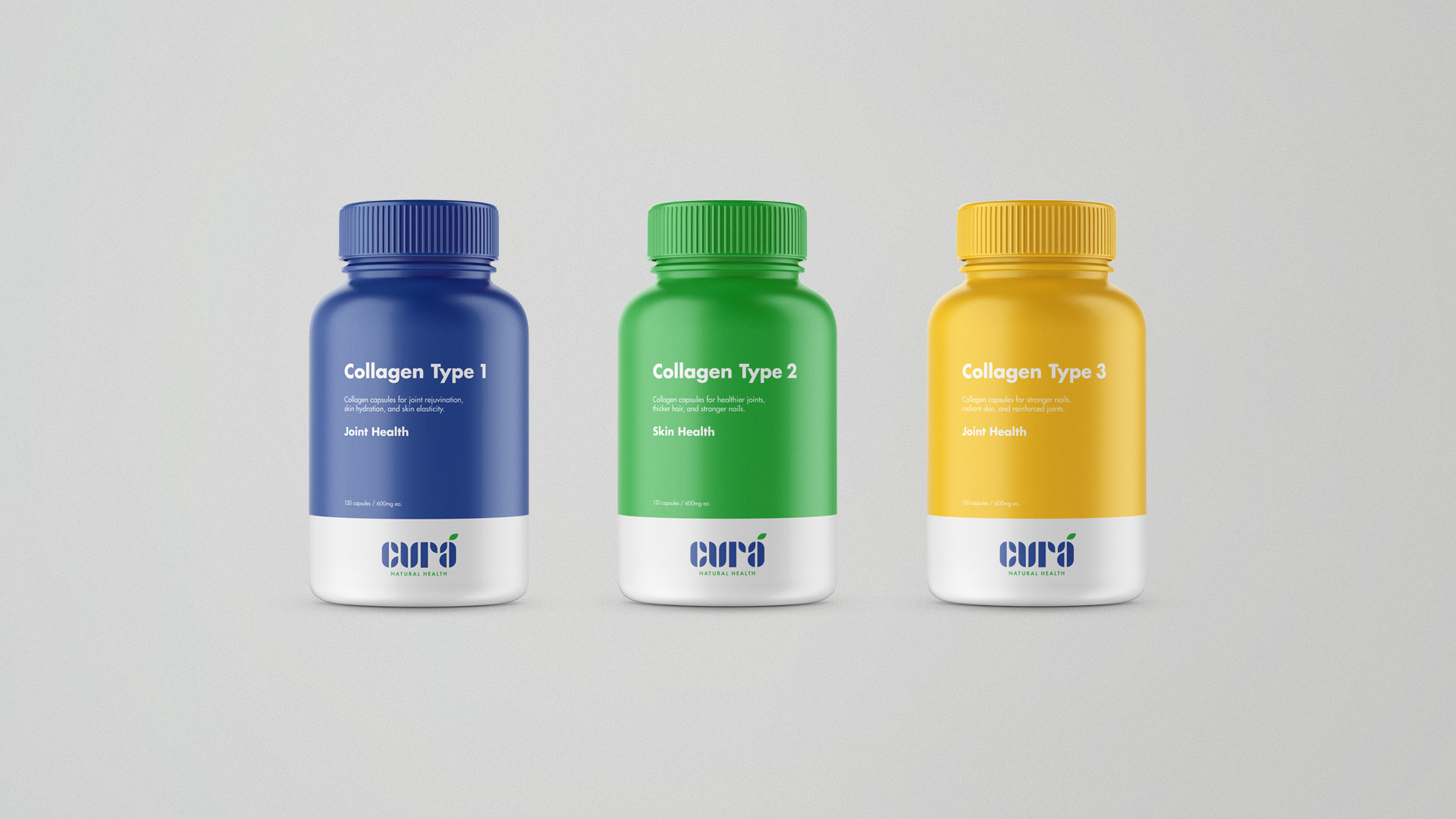 Cura - Adobe Hidden Treasures Logo Design Contest Winner - Packaging Design - Supplement Bottle 3