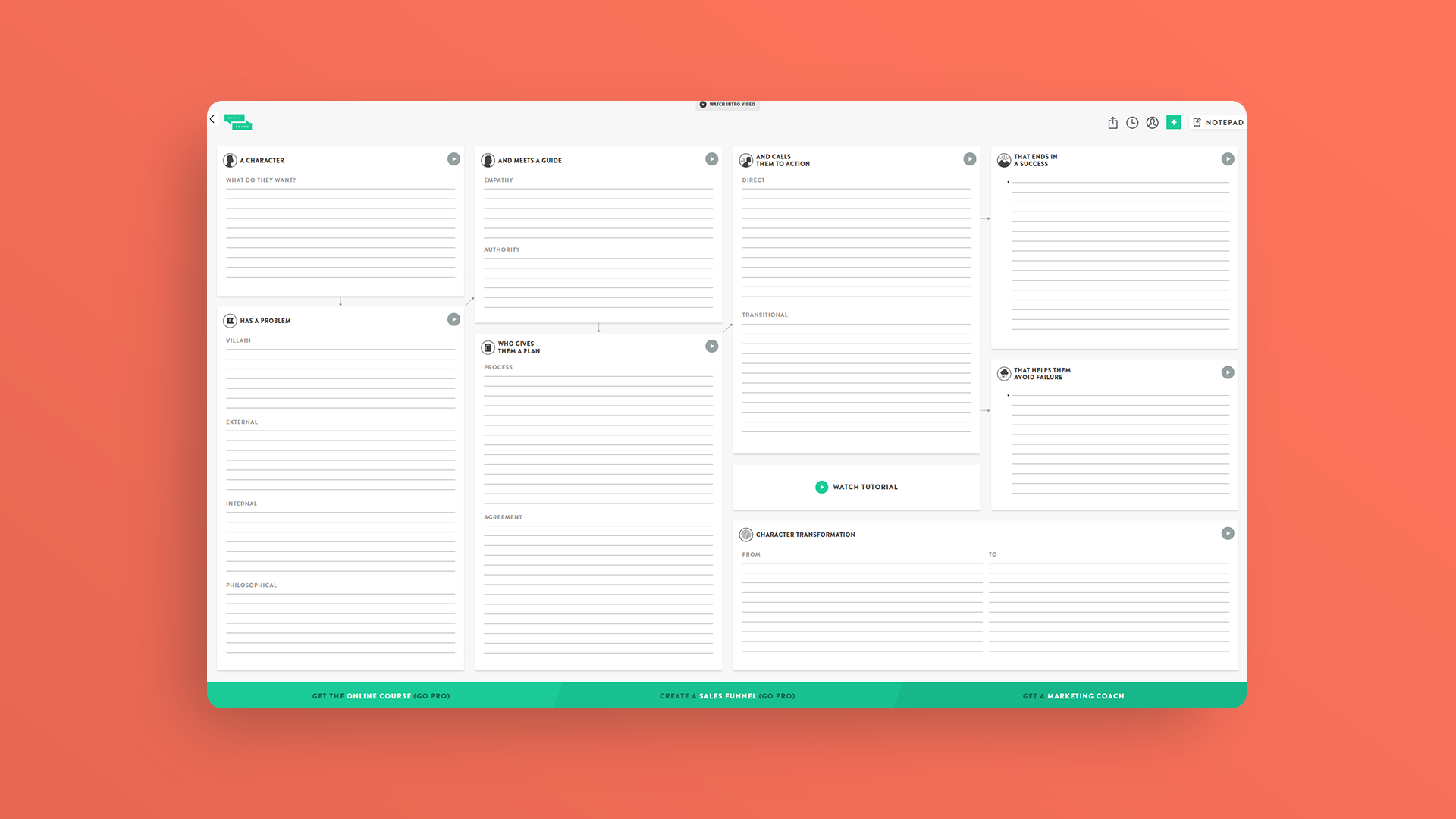 Building a Story Brand - Framework